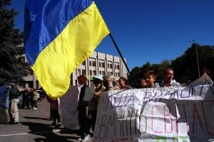 В Одессе переселенцы протестовали против отключения дома от электричества и воды