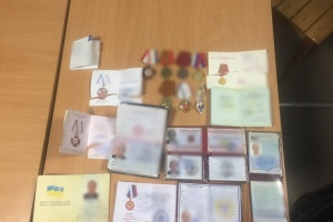 На КПВВ «Каланчак» затримали «ополченця Криму» з медалями окупантів
