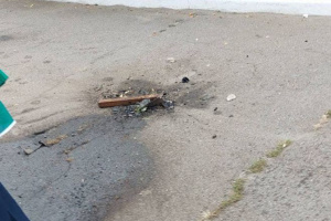 В Запорожье возле медуниверситета взорвался баллон с кислородом