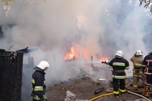 На Франковщине спасатели ликвидировали пожар в поселении ромов