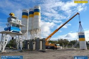 На Полтавщині розпочали монтаж бетонного заводу