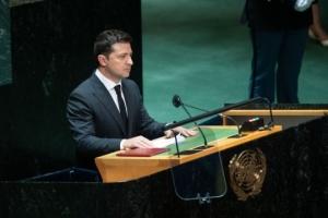 Volodymyr Zelensky :  L'Ukraine n'a pas honte de vouloir revitaliser l'ONU