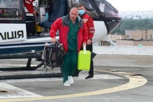 Авіація МВС доставила донорське серце, яке пересадили 12-річній дівчинці