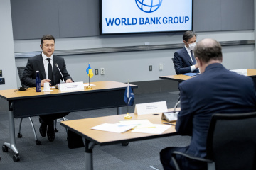 ゼレンシキー大統領、マルパス世銀総裁と会談