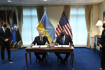 Ukraine, U.S. sign framework agreement on strategic foundations of defense partnership