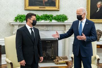 Encuentro entre Zelensky y Biden ha durado unas dos horas