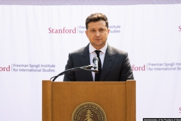 Zełenski mówił w Stanford o głównym celu Ukrainy