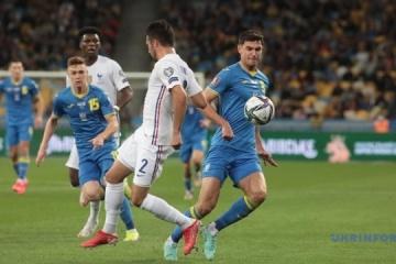 Ucrania empata ante Francia en un partido de clasificacion para el Mundial 2022