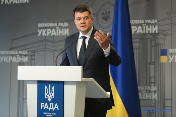 Razumkov says did not discuss with Zelensky own stepdown prospects