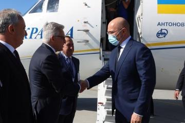 Shmygal llega en visita a Polonia