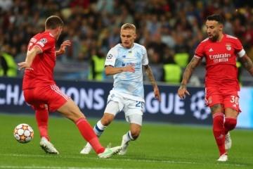 Champions League: El Dynamo y el Benfica empatan sin goles