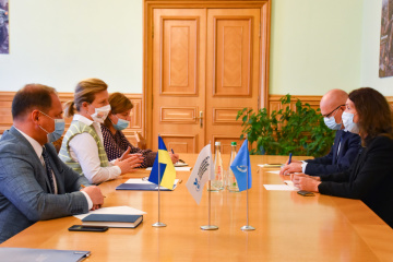 Laputina meets with head of UN Human Rights Monitoring Mission in Ukraine