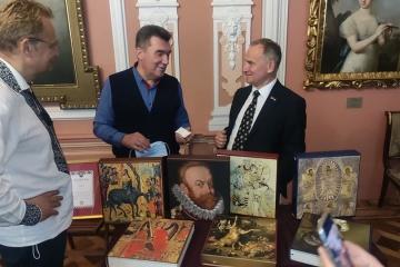 Данілов взяв участь в презентації каталогу галереї мистецтв імені Возницького
