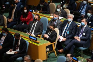 Zelensky asiste a la inauguración del 76º período de sesiones de la Asamblea General de la ONU