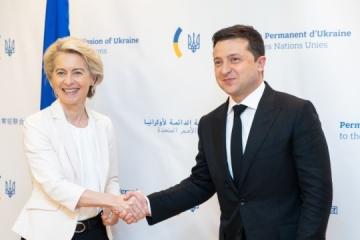 Zelensky se reúne con la presidenta de la Comisión Europea y con inversores estadounidenses