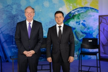 ゼレンシキー大統領、スミス・マイクロソフト社長と会談