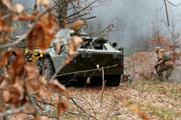 9月26日の露占領軍停戦違反6回、宇軍人1名死亡、1名負傷=ウクライナ国防省