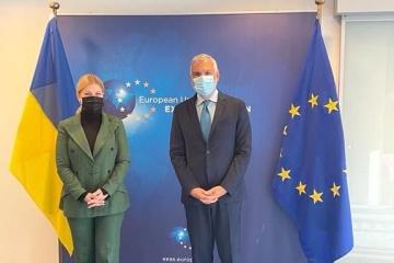 Stefanishyna informa a la UE sobre el progreso de Ucrania en la consecución de los objetivos del Acuerdo de Asociación