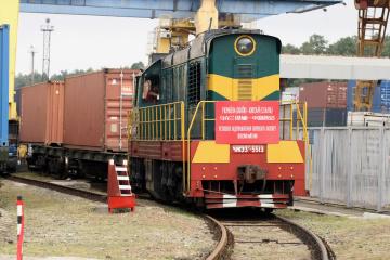 初のウクライナ発中国行貨物列車が出発