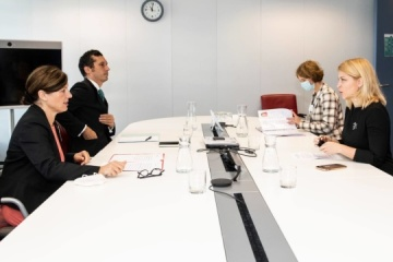 Stefanishyna trata con la vicepresidenta de la UE las oportunidades de fortalecer la cooperación