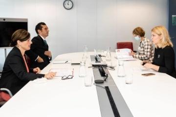 Stefaniszyna omówiła z wiceprezydent UE możliwości zacieśnienia współpracy