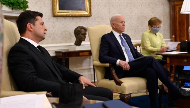 Встреча Зеленского и Байдена продлилась около двух часов