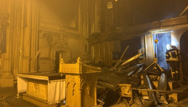 Причиною пожежі в столичному костелі могло стати коротке замикання в органі - МВС