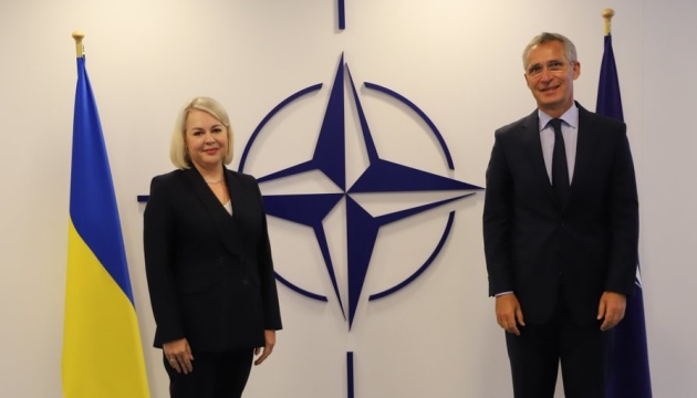 Head of Ukraine's Mission to NATO kicks off her work with Stoltenberg meeting