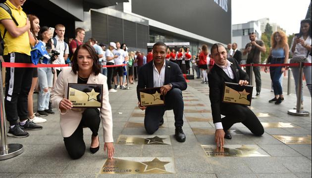 Abren las estrellas para los atletas olímpicos Beleniuk, Koliadenko y Goruna en Kyiv