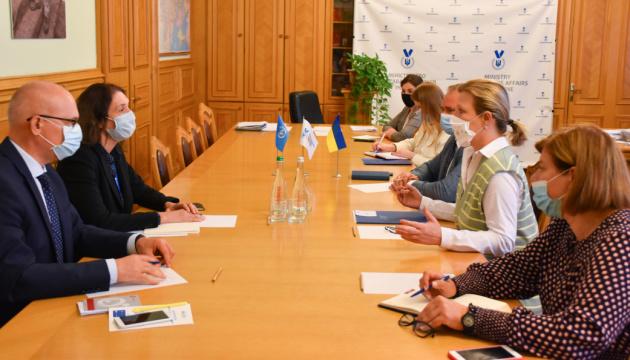 Лапутина встретилась с главой Мониторинговой миссии ООН по правам человека