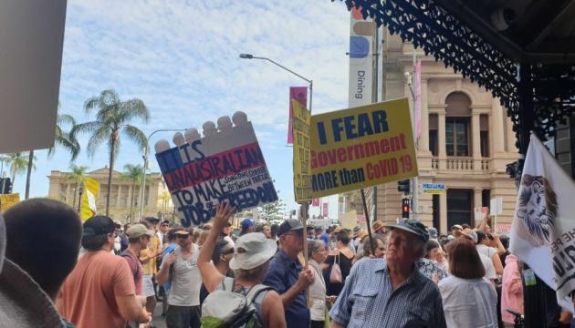 В Австралии митинговали против локдауна, масок и прививок от COVID-19