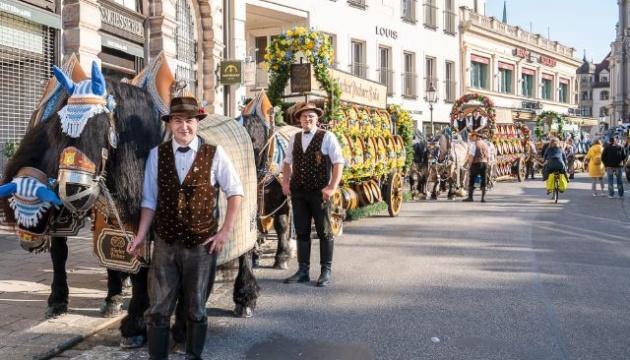 В Мюнхене проходит символический Октоберфест