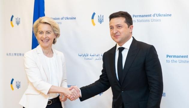Zelensky meets with European Commission President, U.S. investors