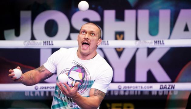Usyk a organisé une séance d'entraînement ouverte avant le combat avec Joshua