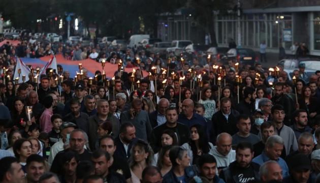 У столиці Вірменії вшанували пам'ять жертв війни у Нагірному Карабасі