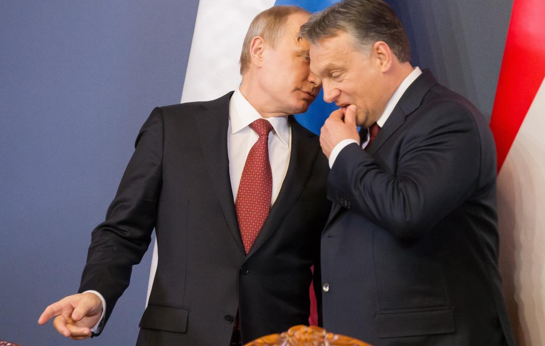 Russian President Vladimir Putin and Hungarian Prime Minister Viktor Orbán