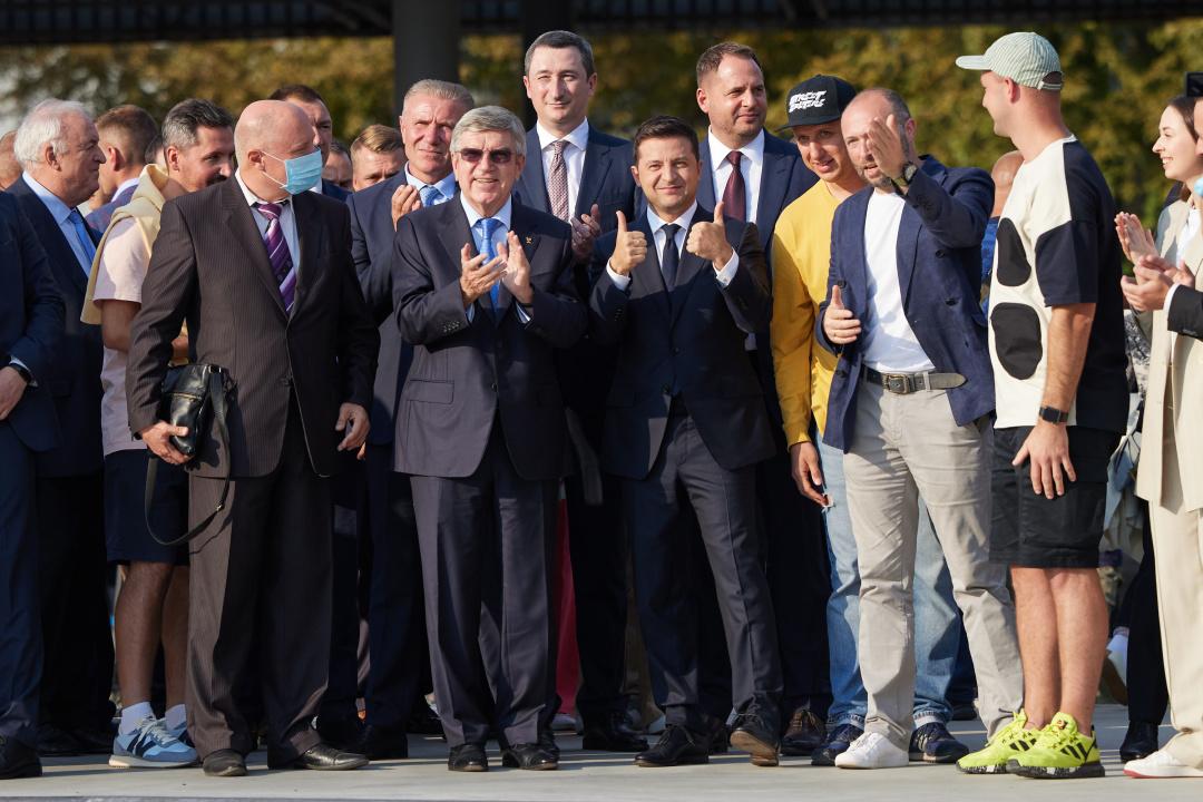 Під час відкриття в Києві урбан-парку
