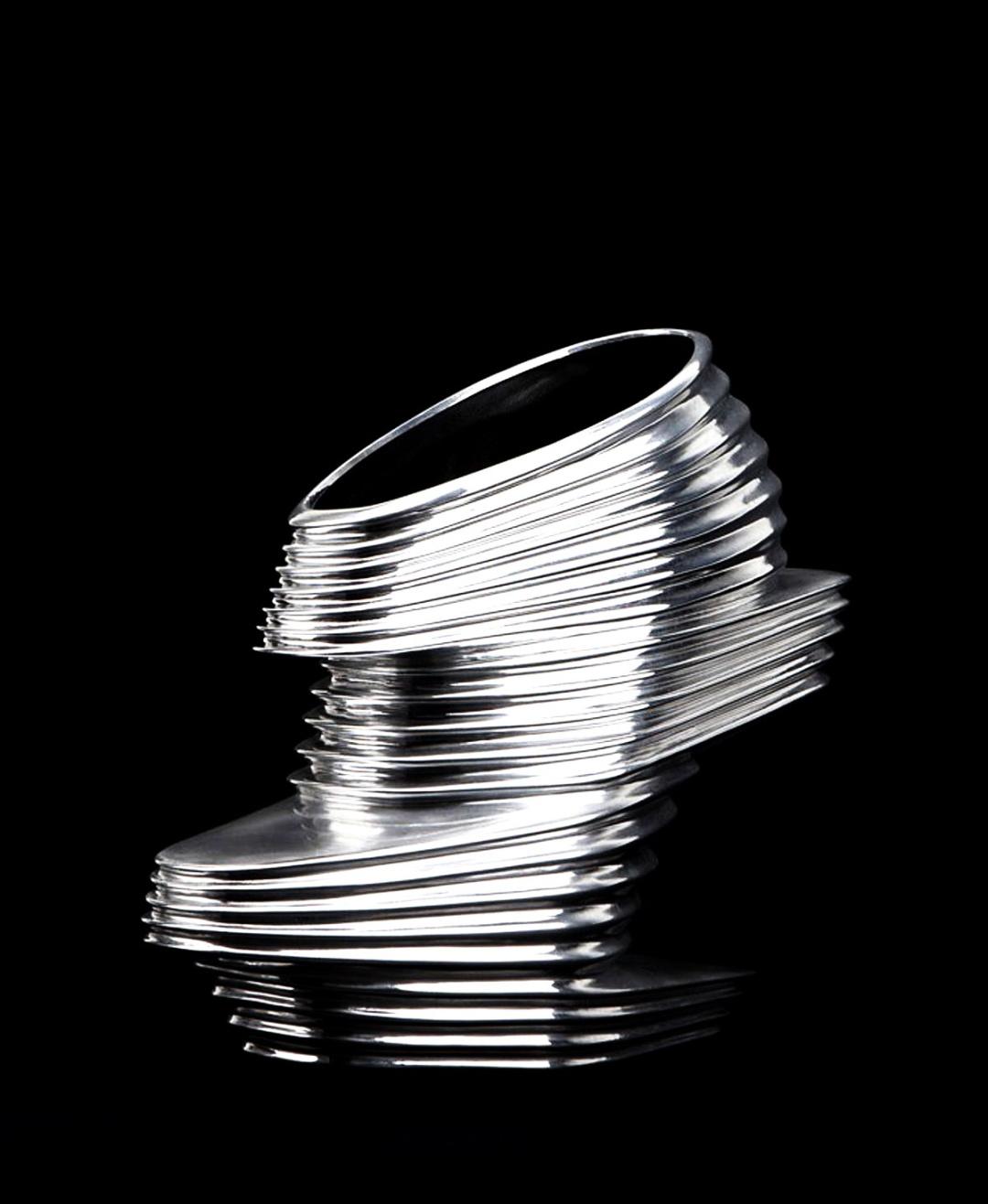 Жіночі черевички Nova з хромованого вінілу з 16-сантиметровим підбором