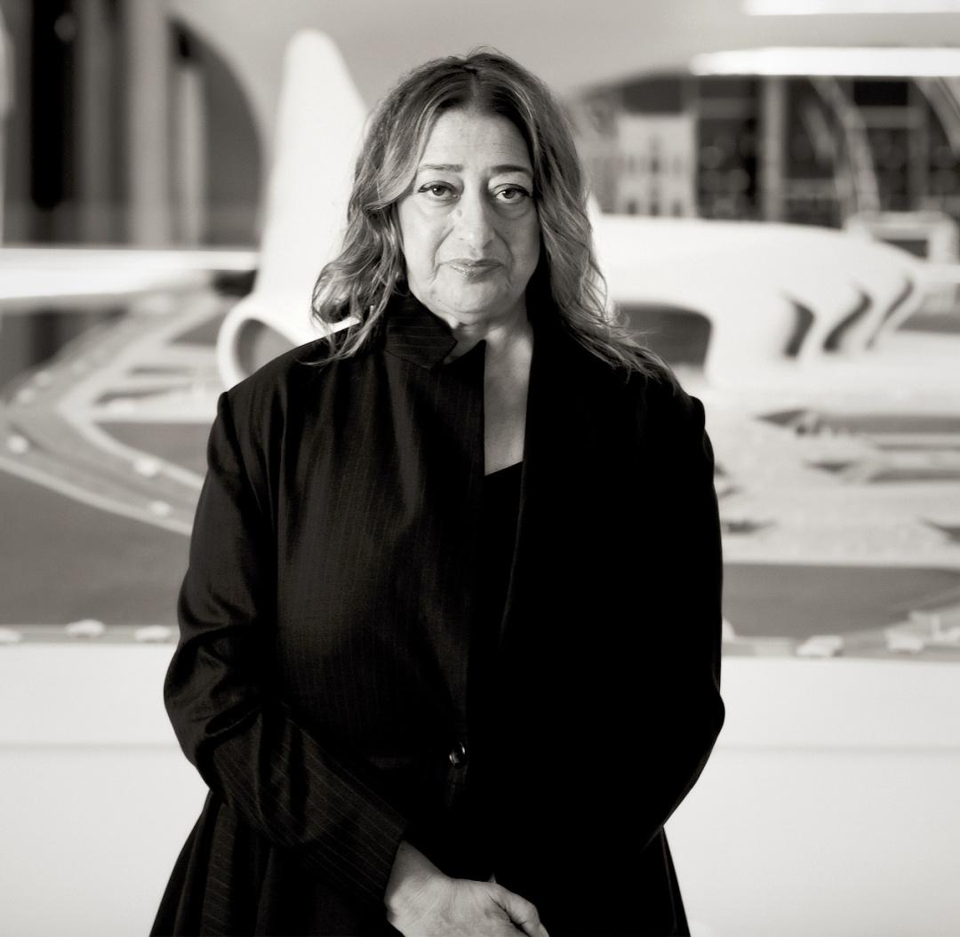 Заха Хадід у Центр Гейдара Алієва в Баку, 2013 р.