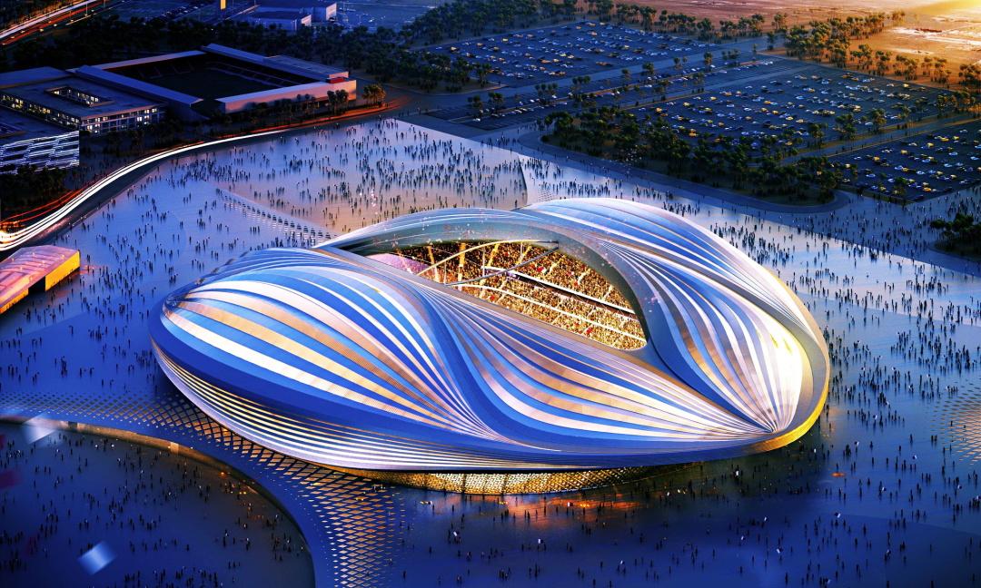 Футбольний стадіон (поки що - комп'ютерна графіка, 2022) до наступного Чемпіонату світу, Катар