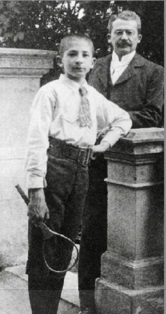 12-річний Людвіг фон Мізес із батьком, 1893 р.