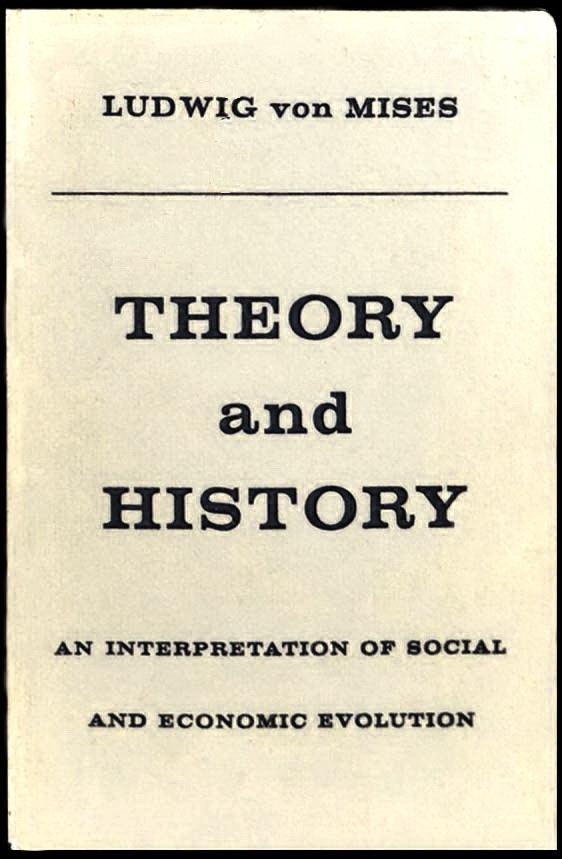"""обкладинка книжки """"Теорія та історія. Інтерпретація соціально-економічної еволюції"""", 1957 р."""
