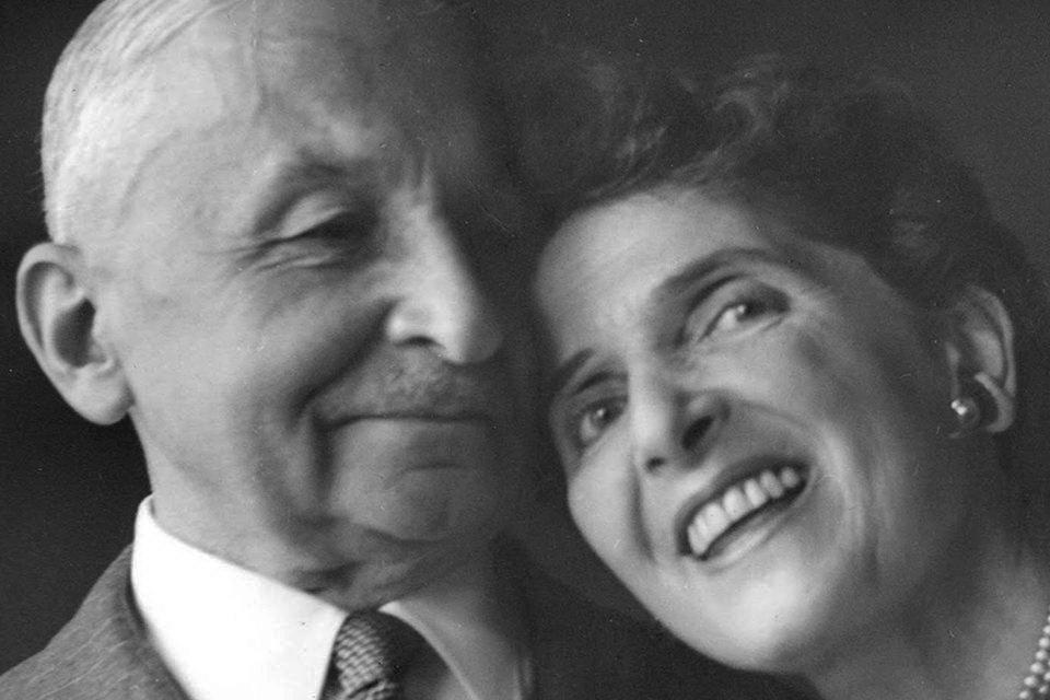 Людвіг фон Мізес із дружиною Маргіт