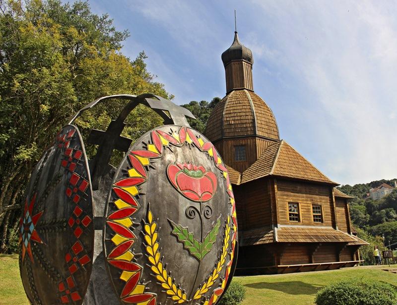 Пам'ятник писанці у Меморіалі української імміграції, м. Куритиба - столиця штату Парана (Бразилія)