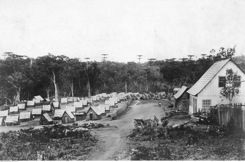 Тимчасові бараки перших Українських поселенців, Прудентополіс (Бразилія)1895 рік