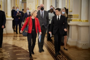 Пресконференція Зеленського та лідерів Євросоюзу