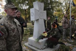 У Києві відкрили пам'ятний хрест захисникам України