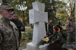 W Kijowie odsłonięto pamiątkowy krzyż obrońcom Ukrainy