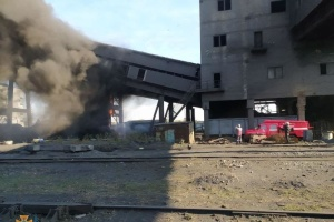 На Авдіївському коксохімічному заводі сталась пожежа