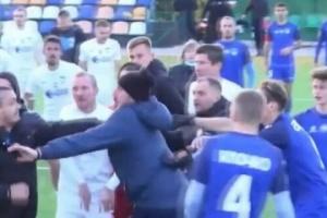 Матч Другої ліги «Суми» - «Перемога» завершився бійкою за участю гравців і уболівальників